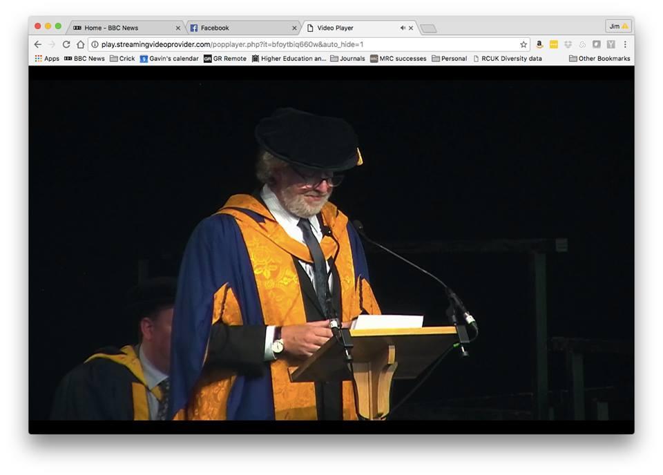 Speaking at ARU