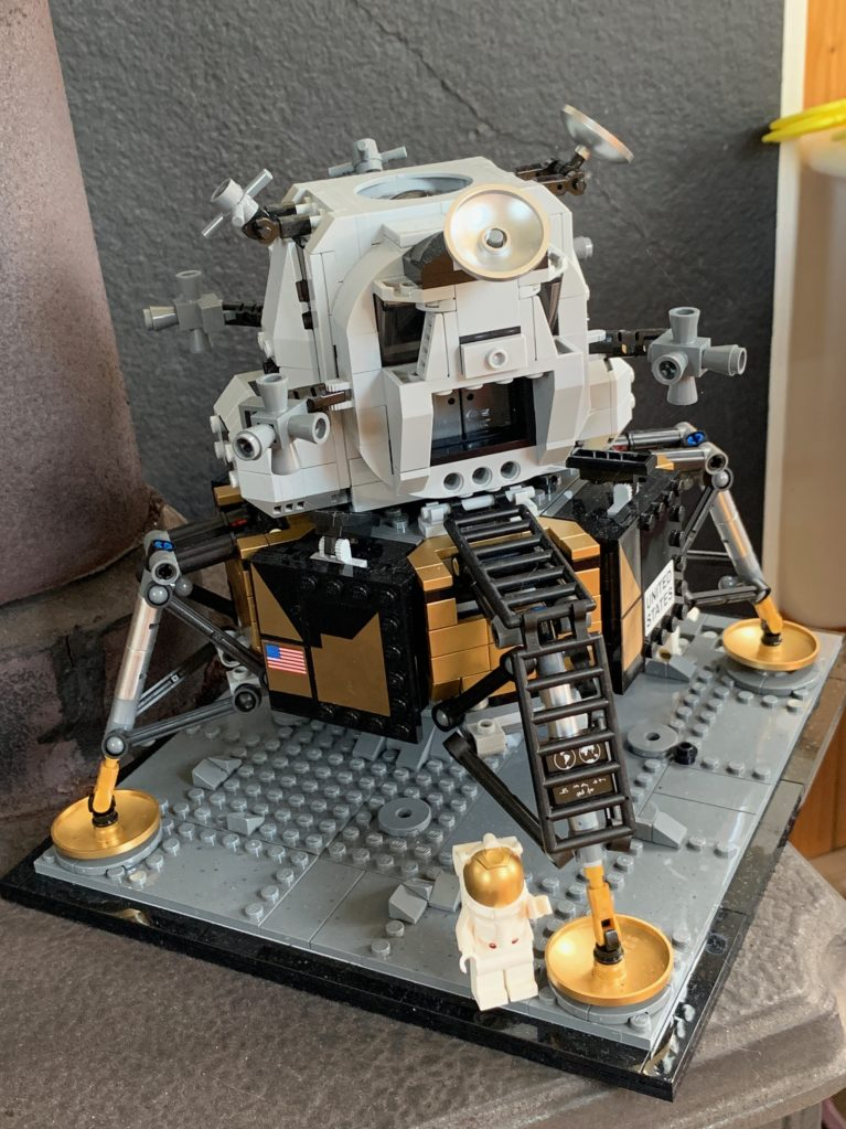 Lego model of the Lunar Excursion Module
