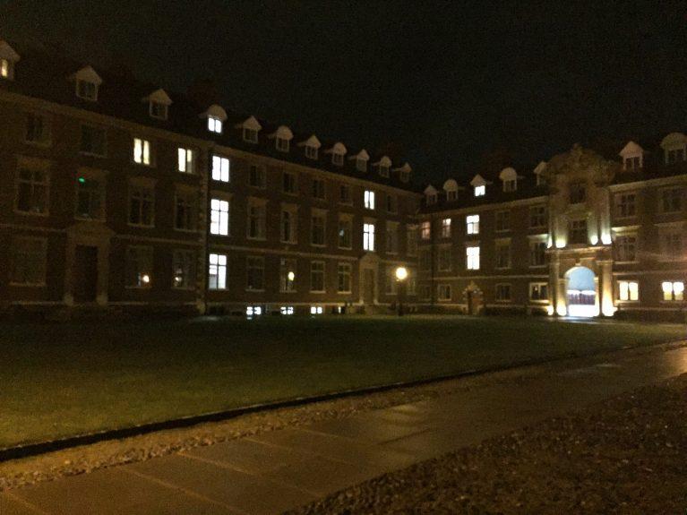 St Catharine's College in darkness