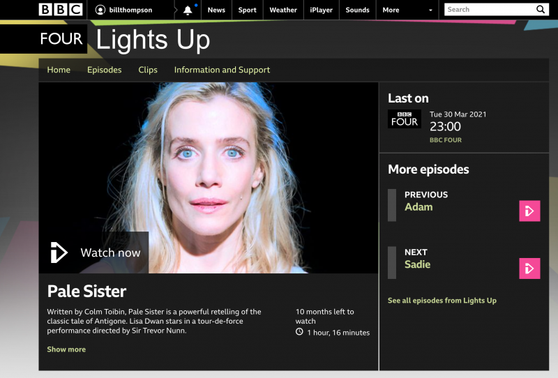 Pale Sister BBC Four screenshot