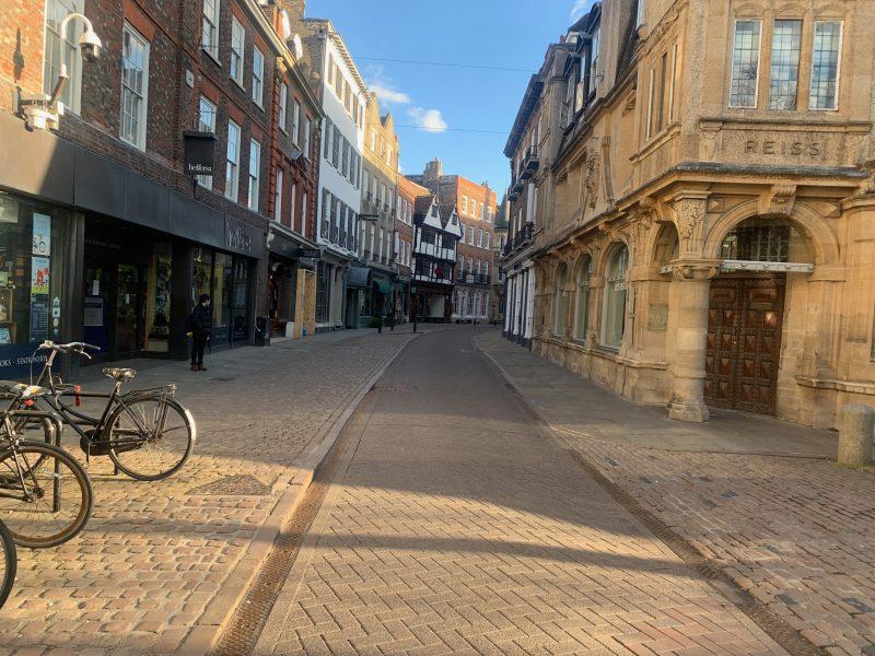 Empty Cambridge street