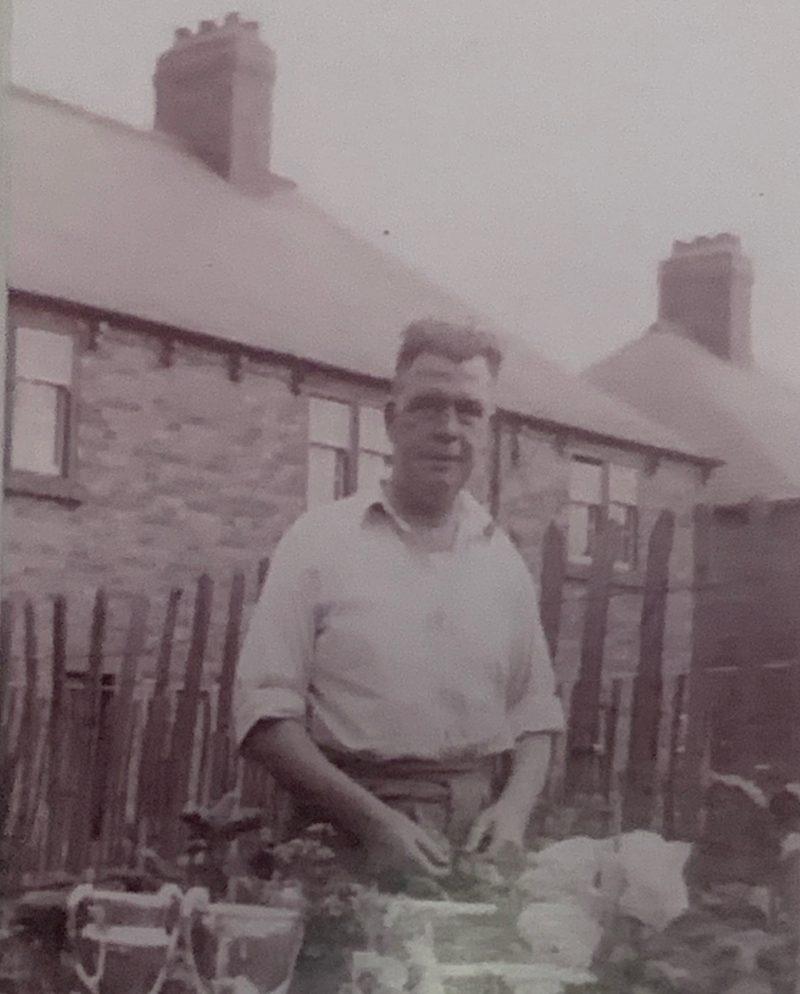 Thomas Clubbs in his garden, aged around 50